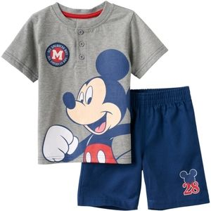 Disney Baby Mickey Mouse Shorts Set NEW 24 Months